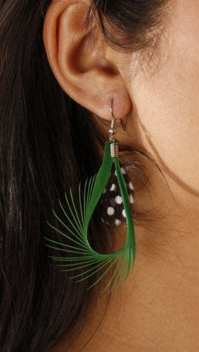 Apparel Addiction Feather Loop Earrings available in multiple colors