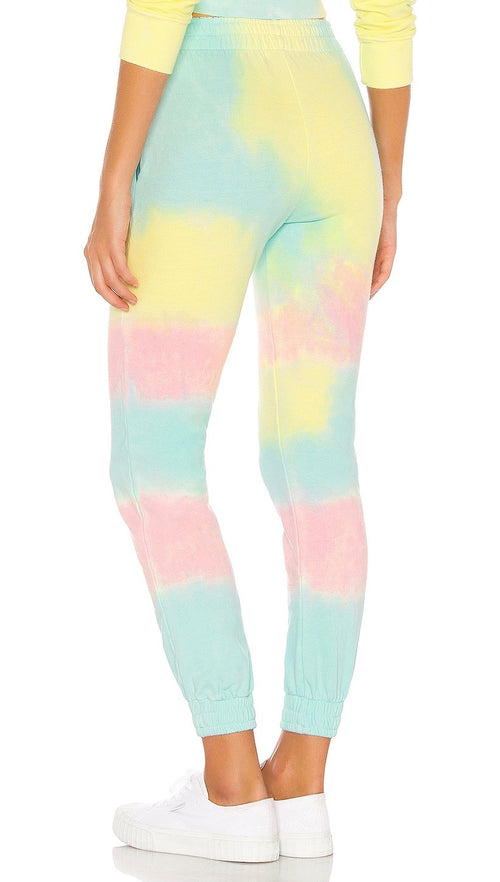 Frankies Bikinis Aiden Rainbow Tie Dye Slim Fit Sweatpants I ShopAA