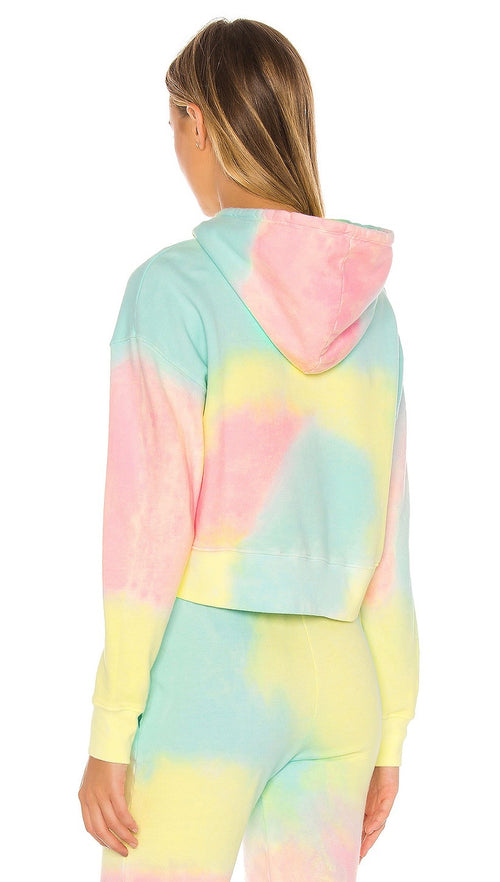 Frankies Bikinis Burl Rainbow Tie Dye Crop Sweatshirt Top I ShopAA