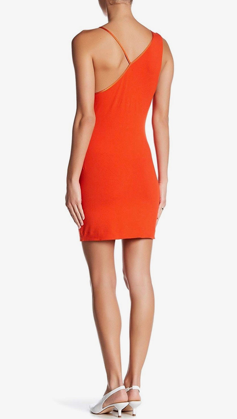Free People Toast To That Mini Dress Bright Red Orange