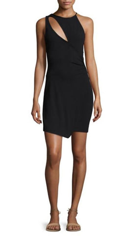 Free People Toast To That Bodycon Cut Out Tulip Mini Dress Black