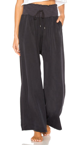 Free People Mia Pants Washed Black Drawstring
