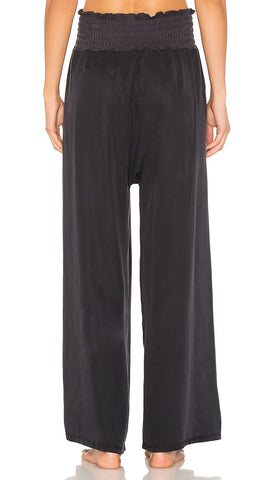 Free People Mia Pants Washed Black High Waist Active