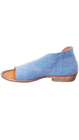 Free People Mont Blanc Sandal Washed Denim Slip On Shoes | ShopAA