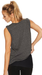 Free People Movement Wonder Tank Heather Black Sleeveless Active I ShopAA