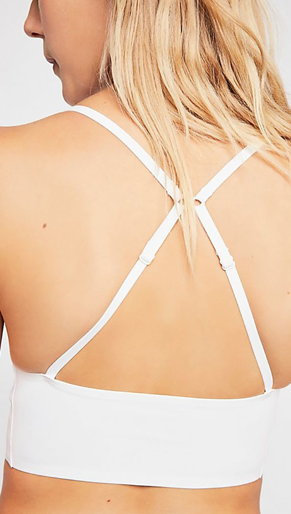 Free People Sage Longline Unseen Bralette Ivory White Seamless I ShopAA