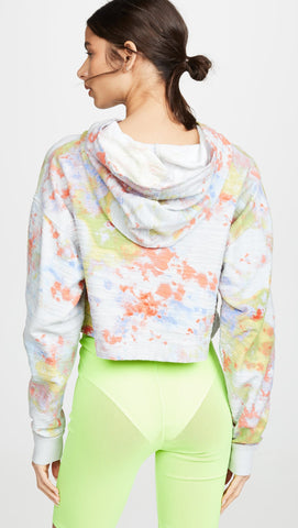 Free People Thinkin About You Tie Dye Hoodie Sky Combo | ShopAA
