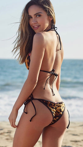 Velvet Leopard Animal Print Triangle Bikini Chynna Dolls Swimwear ShopAA