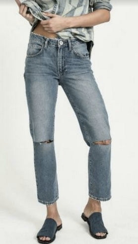 One Teaspoon Hollywood Awesome Baggies High Waist Straight Leg Jean