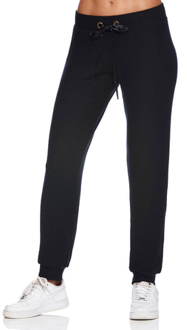 Beach Bunny Swimwear Josie Jogger Black Lounge Skinny Pants | ShopAA