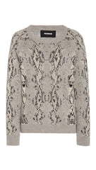 Monrow Snake Raglan Sweatshirt Light Heather Grey Sweater I ShopAA