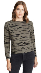 MONROW Cashmere Tiger Vintage Raglan Sweater Falcon Green | ShopAA