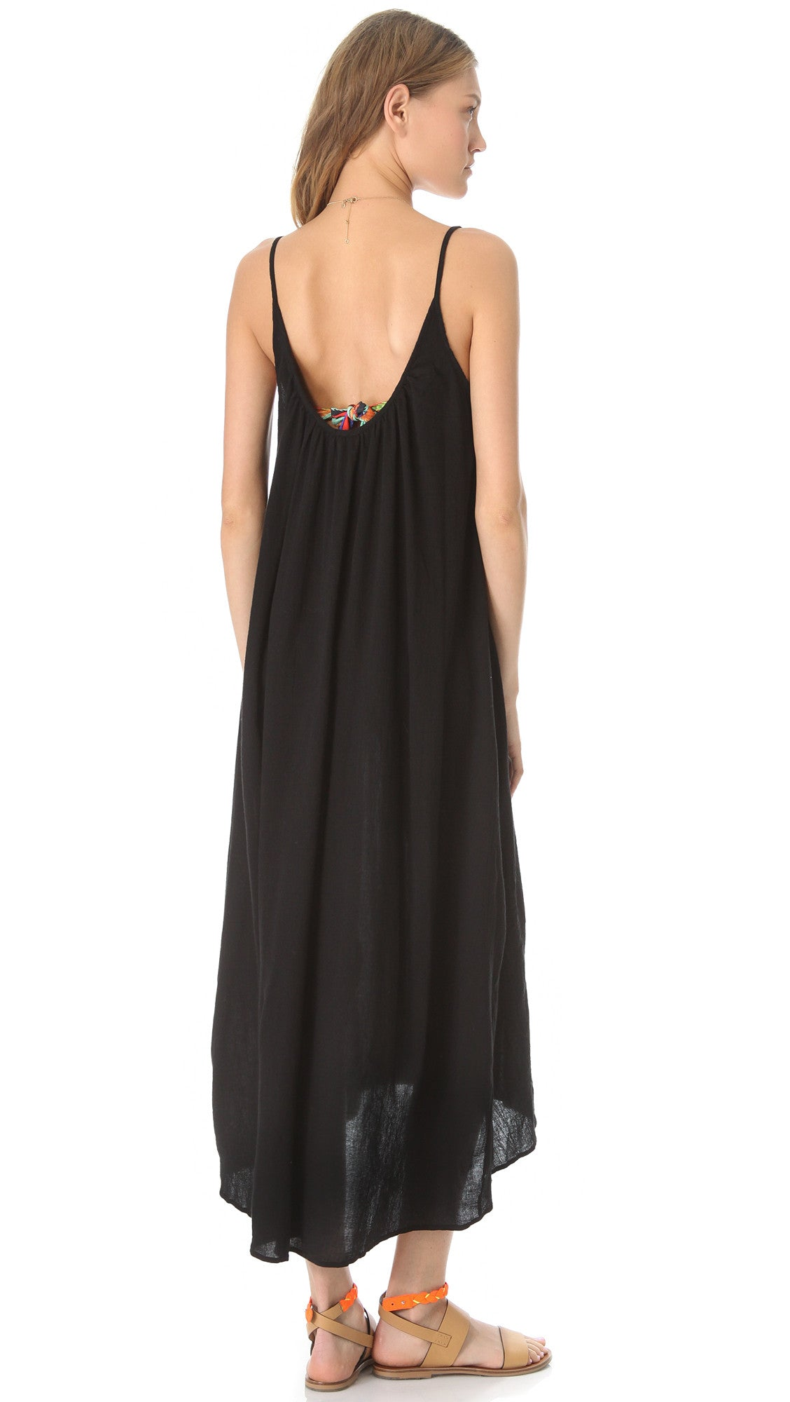 9Seed Tulum Maxi Dress in Black Swim Cover Up Beach
