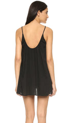 St. Barts Dress in Black by 9Seed Brand - Mini - Cover-up - Gauze Knit