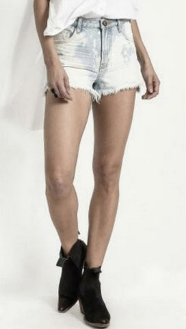 One Teaspoon Sea Drifter Bonita High Waist Denim Shorts | ShopAA