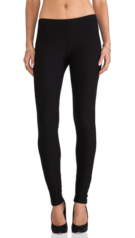 Plush Cotton Fleece Lined Legging Black Cotton | ShopAA