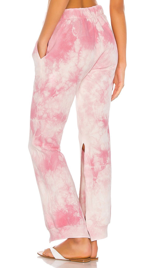 Ranger Heavenly Pink Tie Dye Slit Pocket Sweatpants Frankies Bikinis I ShopAA