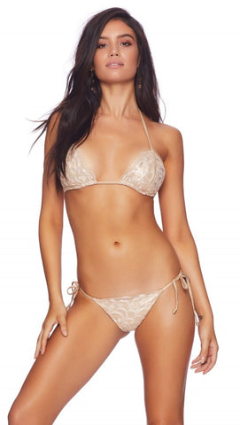 Rosie Tieside Bikini Bottom Rose Gold Lace Beach Bunny Swimwear ShopAA
