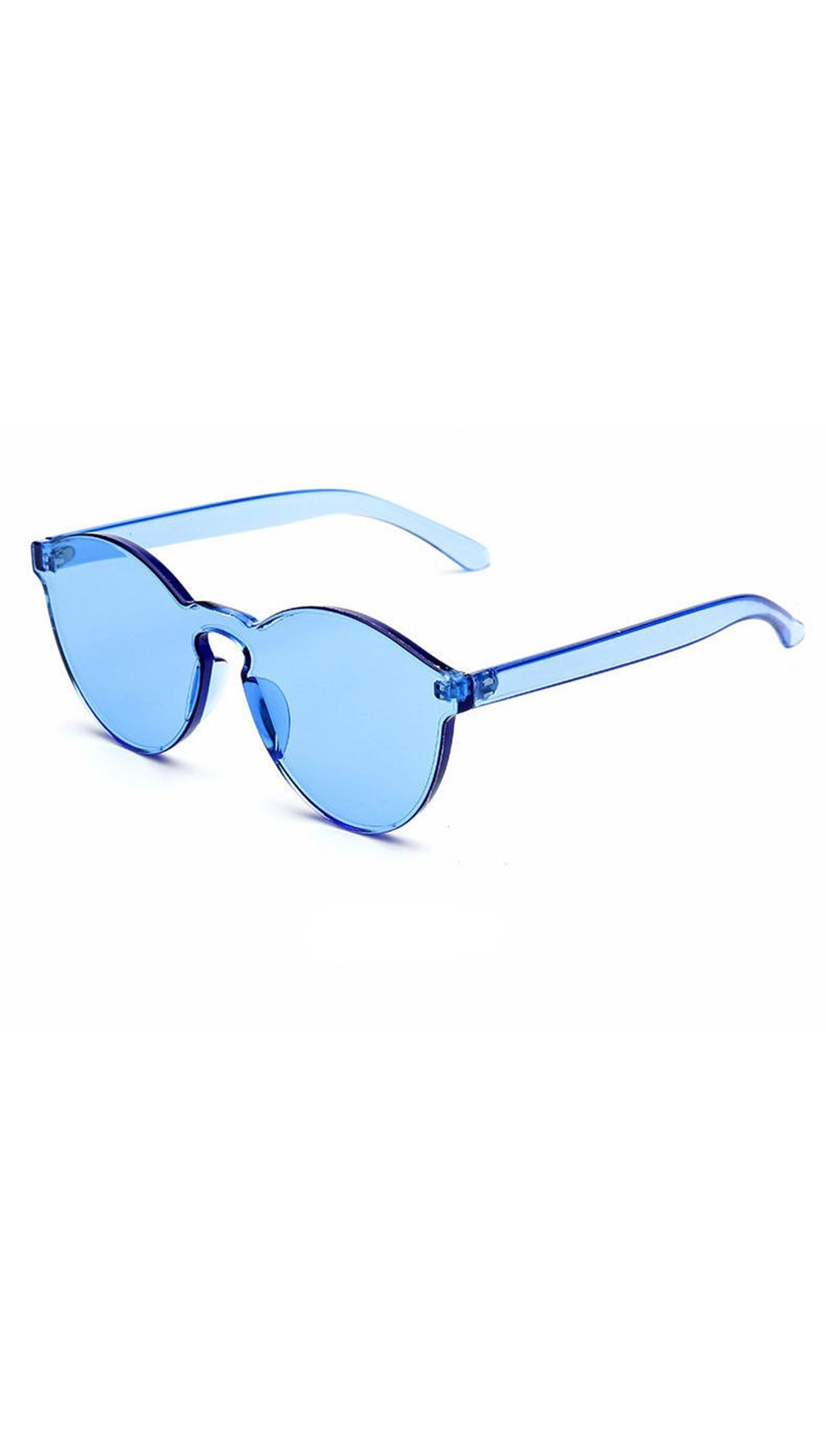 Brixy Blue Shield Sunglass Fashion Eye Wear Shades SHOPAA