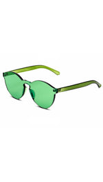 Brixy Green Shield Sunglass Fashion Eye Wear Shades SHOPAA