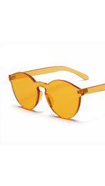 Brixy Shield Gold Orange Yellow Sunglass Fashion Eye Wear Shades SHOPAA