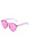 Brixy Pink Shield Sunglass Fashion Eye Wear Shades SHOPAA