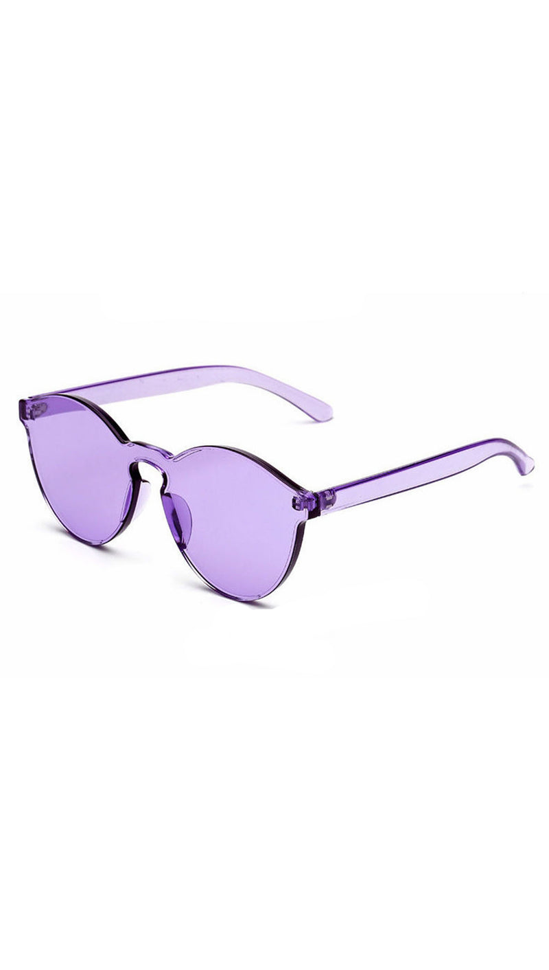 Brixy Purple Shield Sunglass Fashion Eye Wear Shades SHOPAA