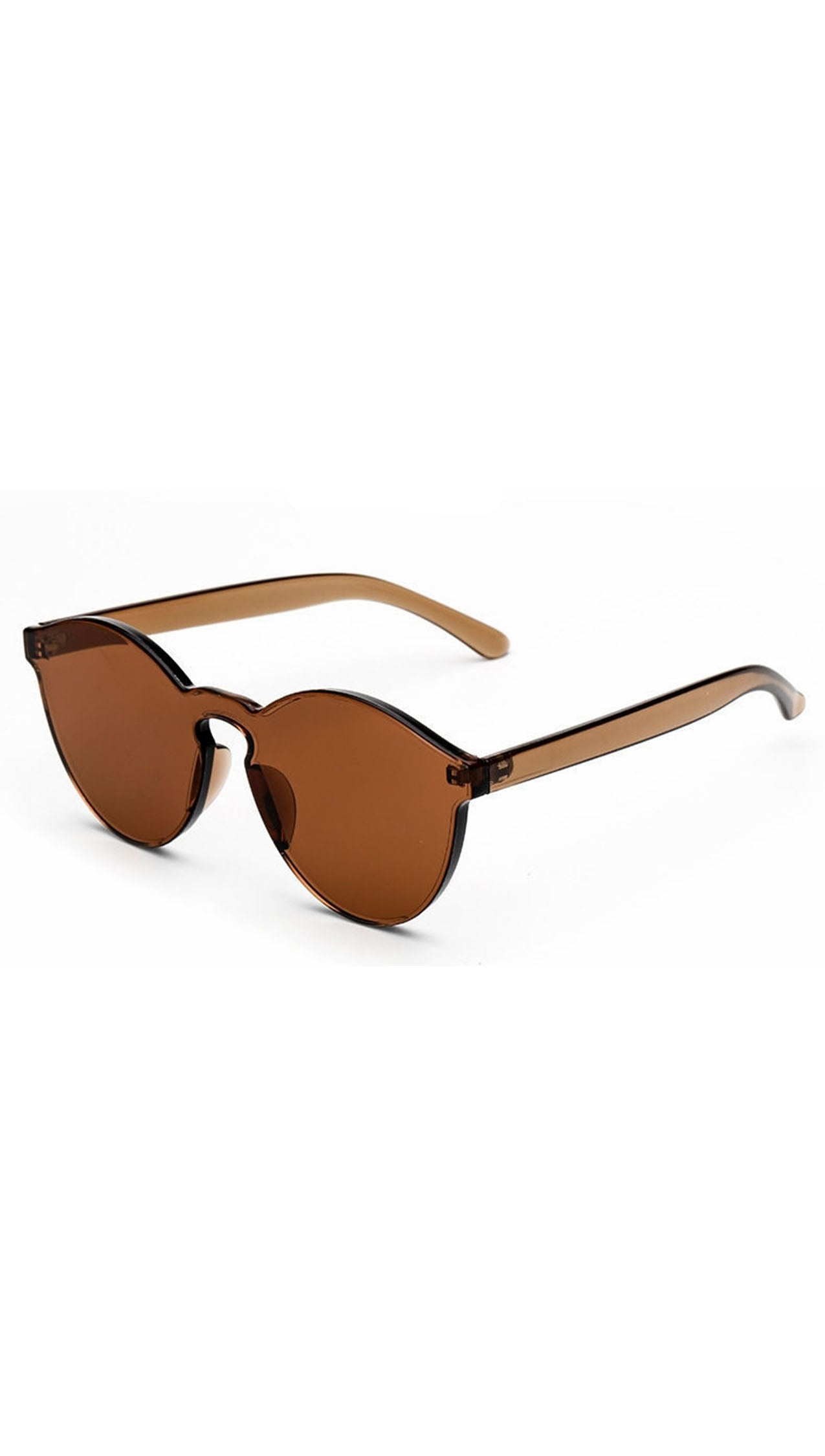 Brixy Coffee Brown Shield Sunglass Fashion Eye Wear Shades SHOPAA