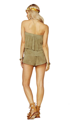 Marion Tiered Romper Spanish Olive by Blue Life l ShopAA