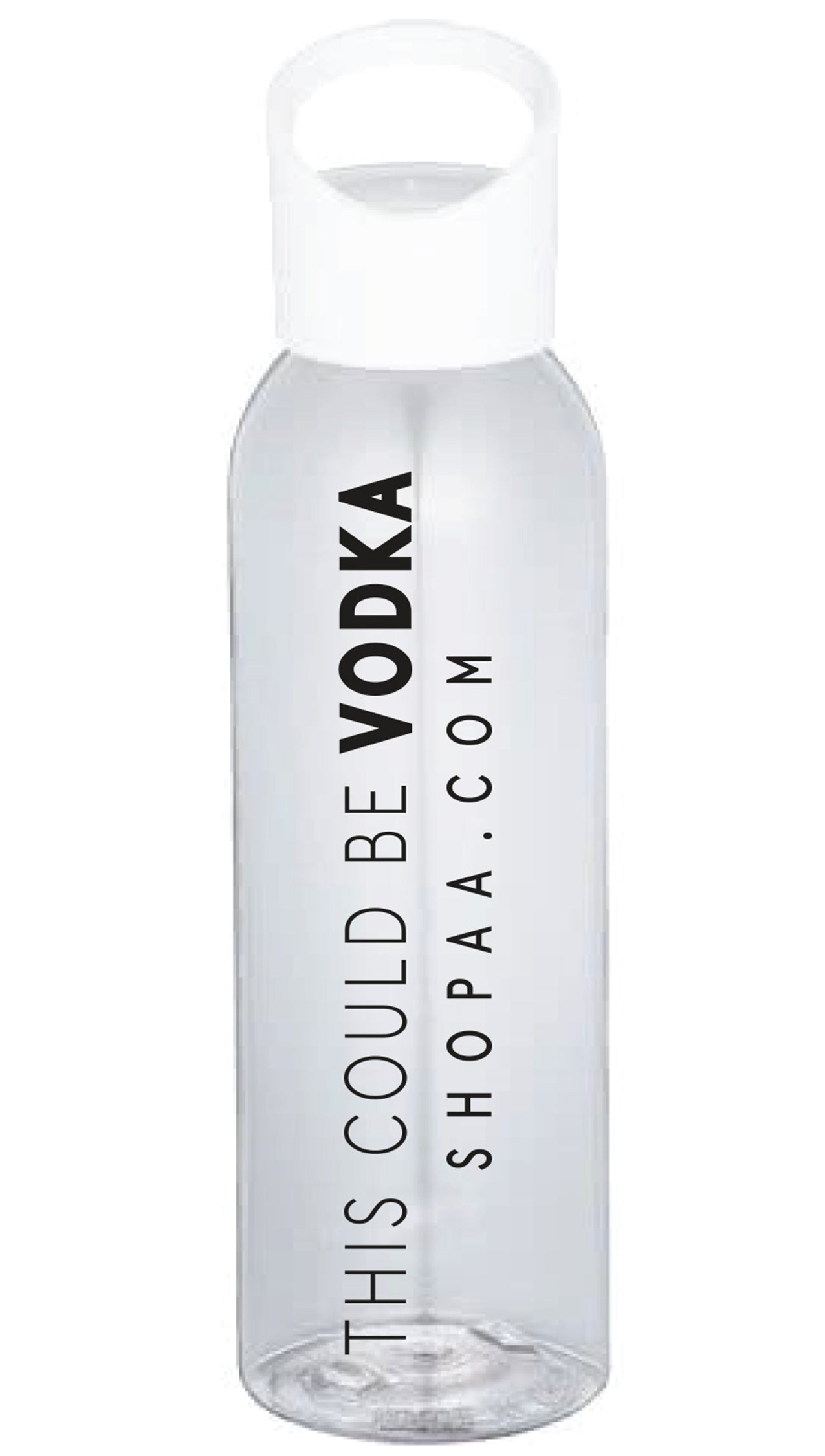 this could be vodka clear water bottle