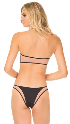 Tori Praver Royale Pull Over Bandeau Bikini Top Black Swim | ShopAA
