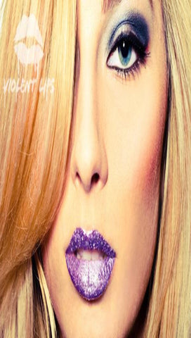 Violent Lips Lavender Glitteratti Tattoo - Purple Sparkle Lipstick - ShopAA