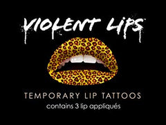VIolent Lips The Cheetah Animal Print Lip Tattoo Makeup Lipstick ShopAA