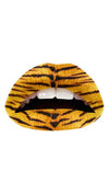 Violent Lips Tiger Yellow Animal Print Lipstick Tattoo