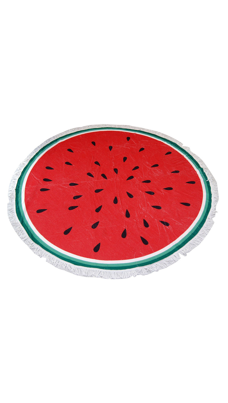 Watermelon Round Fringe Beach Towel Throw Circle