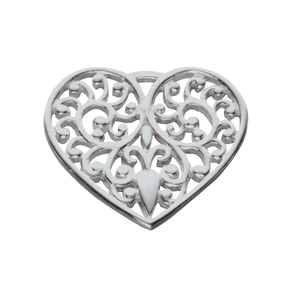Lacy Heart Charm
