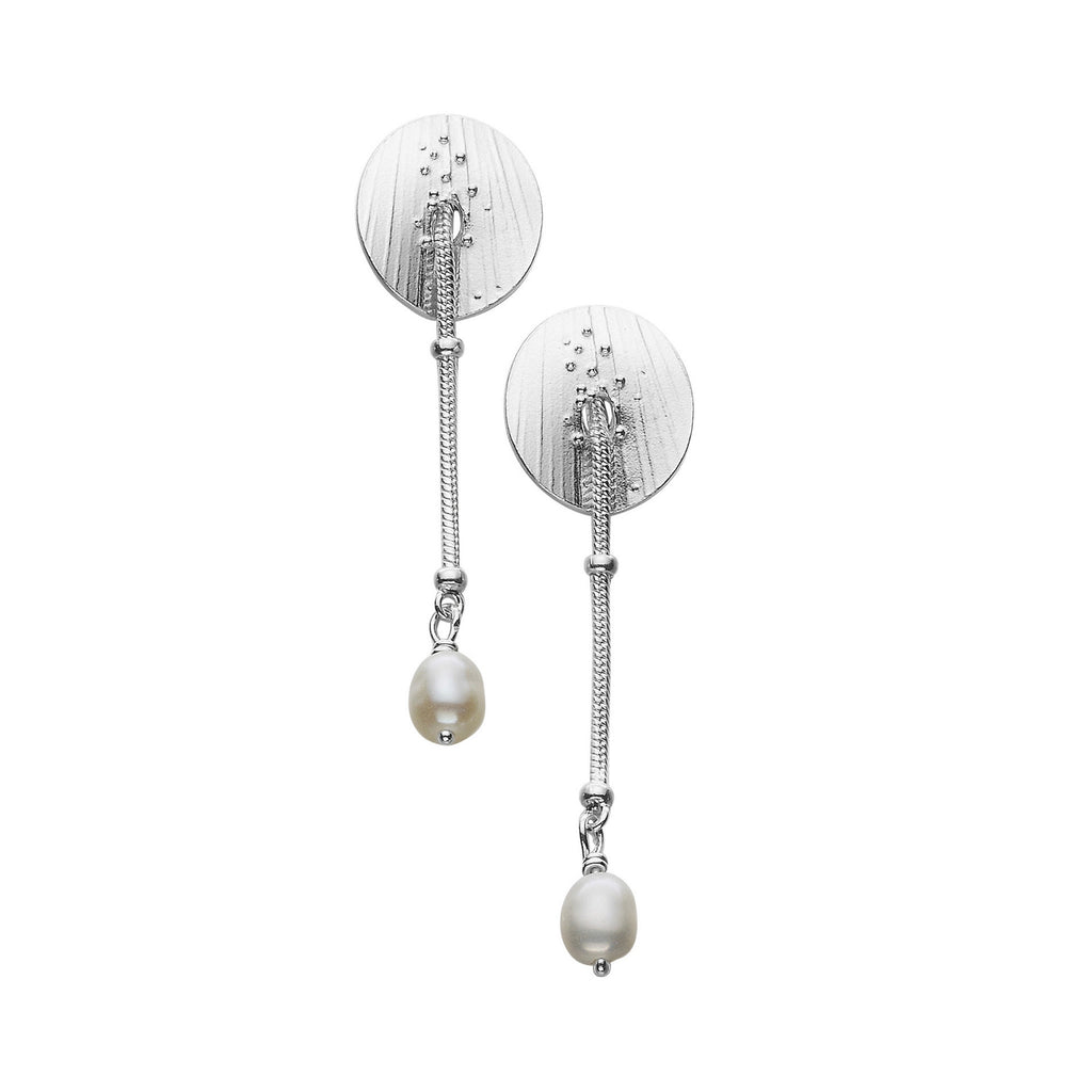 Eve White Pearl Drop Earrings