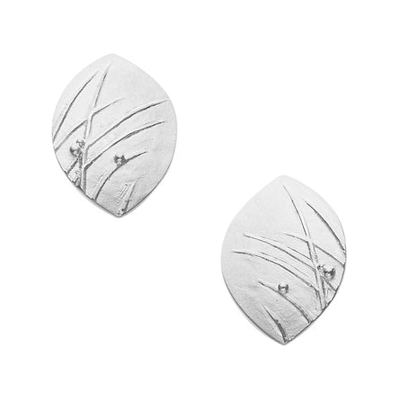 Mistral Oval Stud Earrings