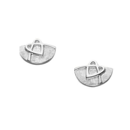 Faray  Half Round Stud Earrings
