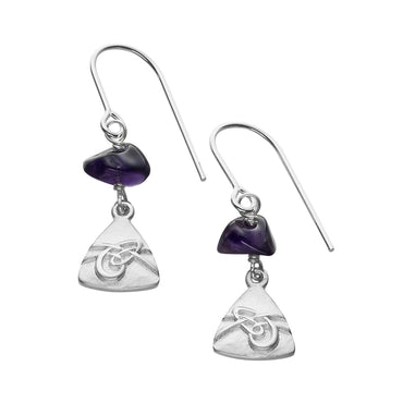 Aikerness Amethyst Drop Earrings