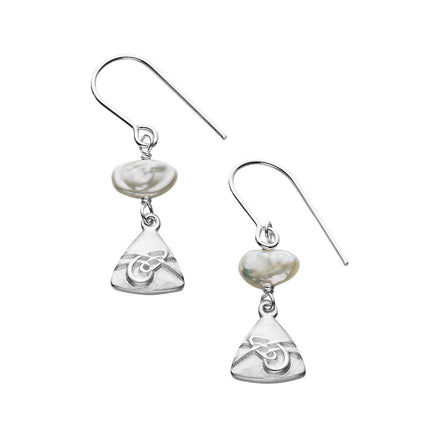 Aikerness White Pearl Drop Earrings