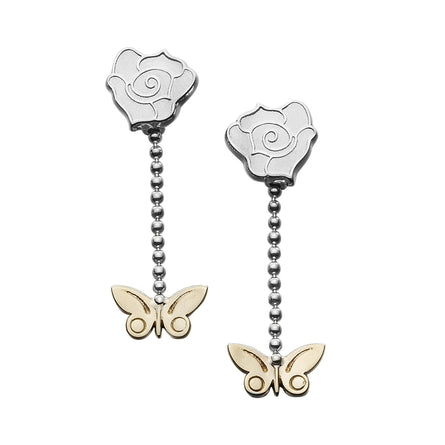 Flowerland Drop Mixed Metal Earrings