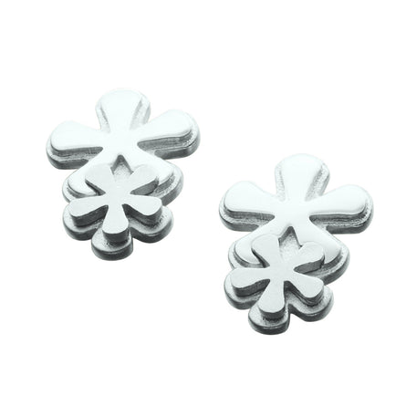 Petal-fall Silver Stud Earrings