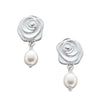 Rosebud White Pearl Earrings