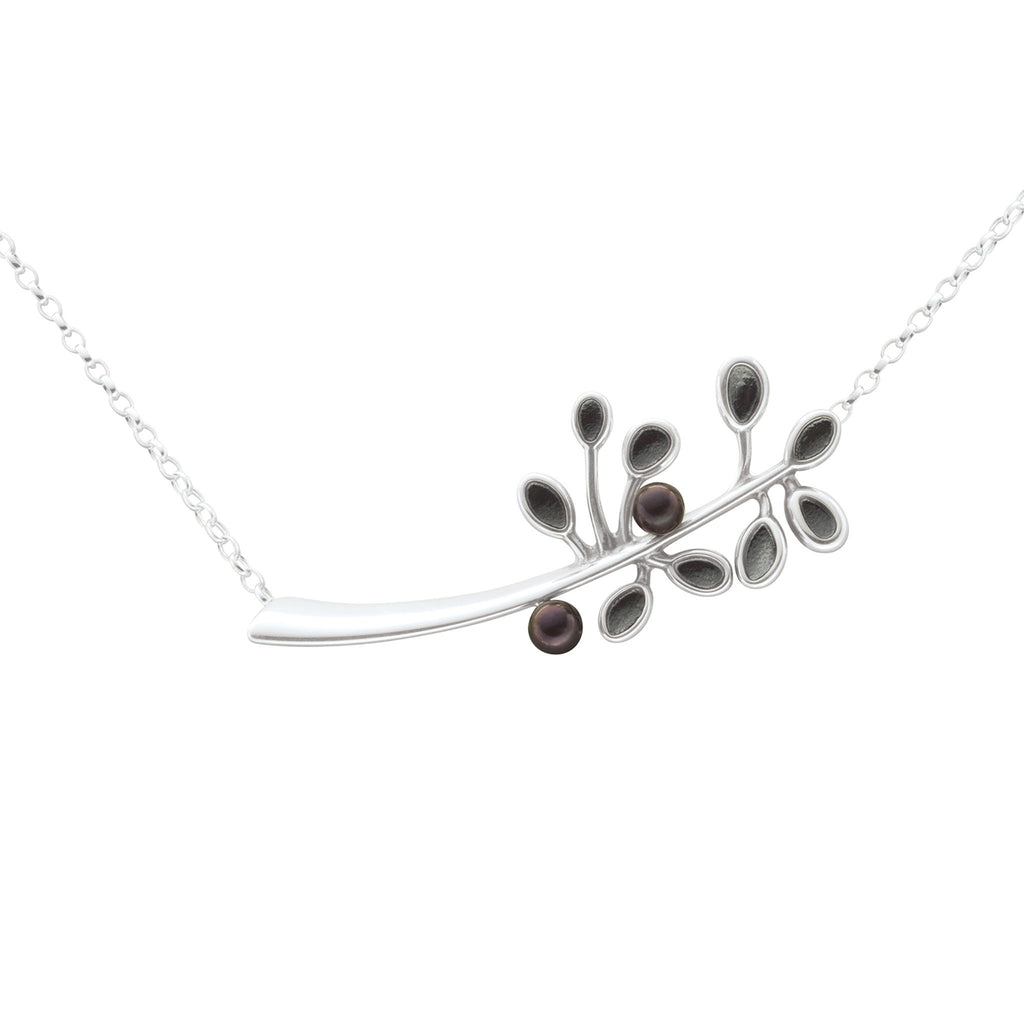 Cloudberry Black Pearl Necklet