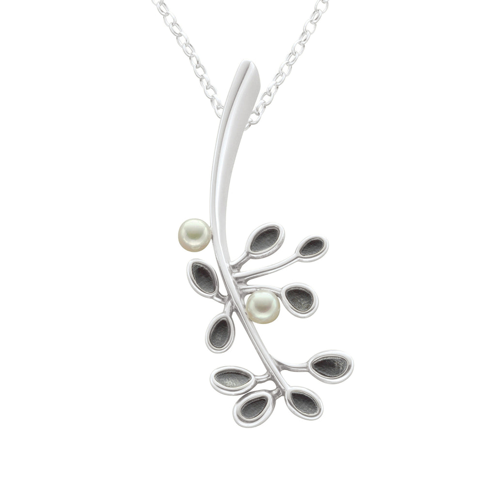 Cloudberry White Pearl Pendant