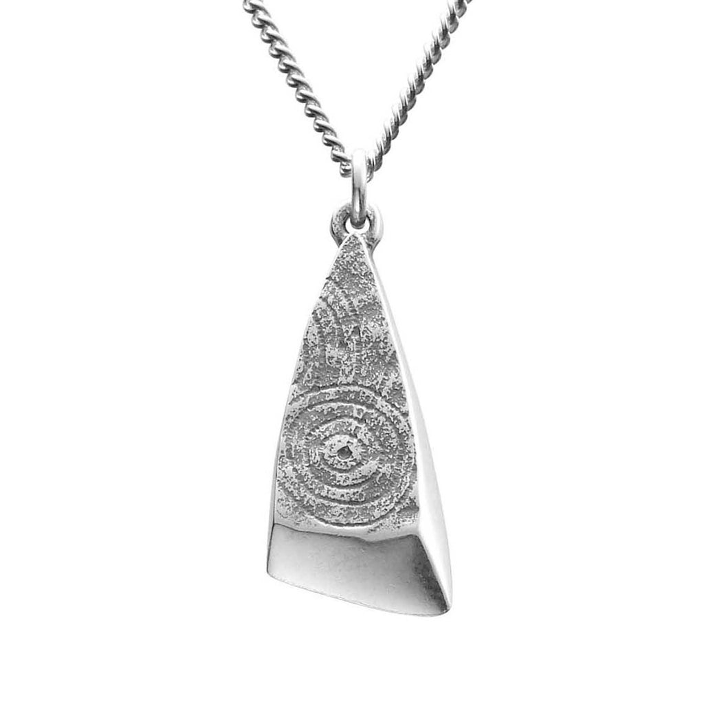 short wood necklace geometric eyeful triangular s fool triangle gold white nw modern pendant product