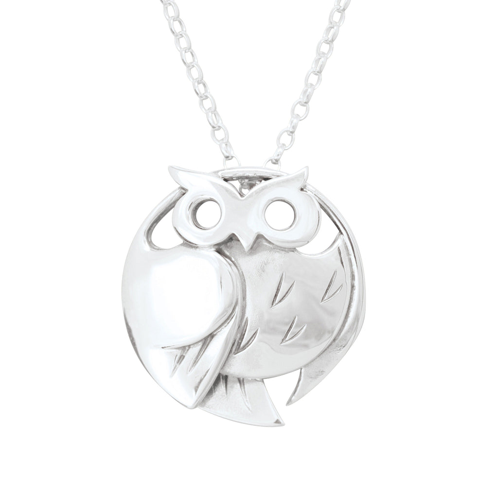 Barn Owl Large Pendant