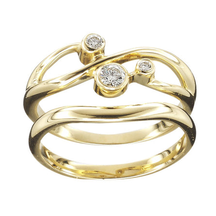Sirius Triple Diamond Gold Ring