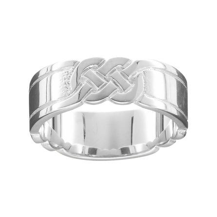 Celtic Knot Men's Scottish Ring Silver